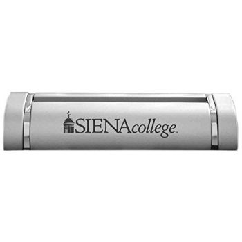 Siena College-Desk Business Card Holder -Silver