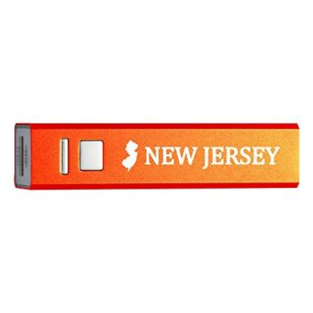 New Jersey-State Outline-Portable 2600 mAh Cell Phone Charger-