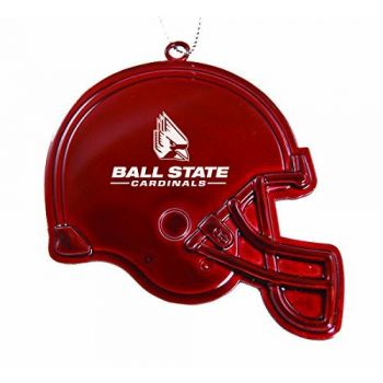 Ball State University - Chirstmas Holiday Football Helmet Ornament - Red