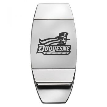 Duquesne University - Two-Toned Money Clip - Silver