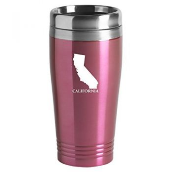 16 oz Stainless Steel Insulated Tumbler - California State Outline - California State Outline