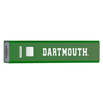 Dartmouth College - Portable Cell Phone 2600 mAh Power Bank Charger - Green