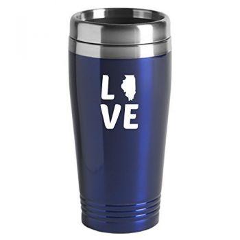 16 oz Stainless Steel Insulated Tumbler - Illinois Love - Illinois Love