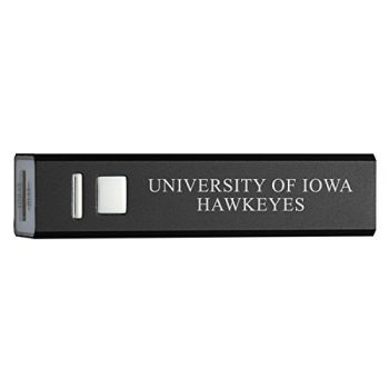University of Iowa - Portable Cell Phone 2600 mAh Power Bank Charger - Black