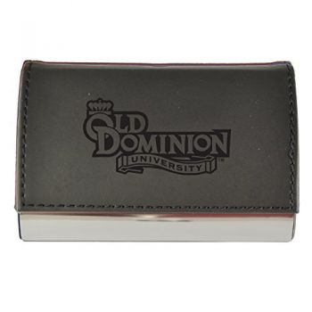 Velour Business Cardholder-Old Dominion University-Black