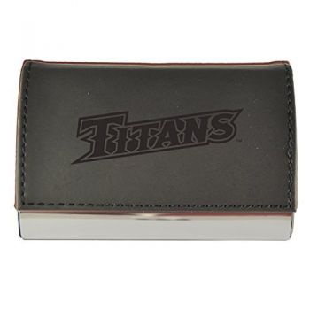 Velour Business Cardholder-California State University Fullerton-Black