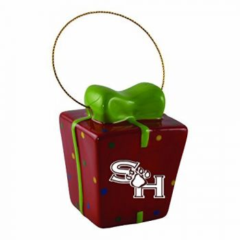 Sam Houston State University-3D Ceramic Gift Box Ornament
