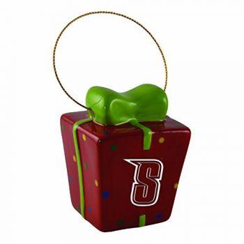 Siena College-3D Ceramic Gift Box Ornament
