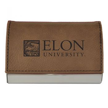 Velour Business Cardholder-Elon University-Brown