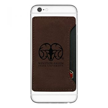 Winston-Salem State University-Cell Phone Card Holder-Brown