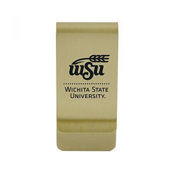 Wake Forest University|Money Clip with Contemporary Metals Finish|Solid Brass|High Tension Clip to Securely Hold Cash, Cards and ID's|Silver