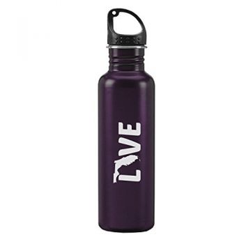 Florida-State Outline-Love-24-ounce Sport Water Bottle-Purple