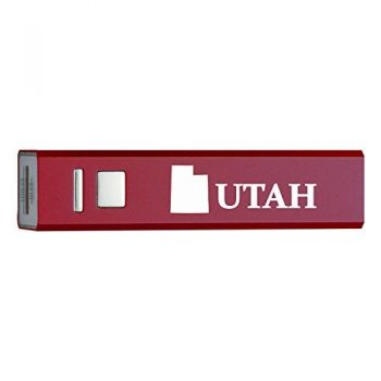 Utah-State Outline-Portable 2600 mAh Cell Phone Charger-