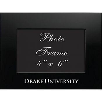 Drake University - 4x6 Brushed Metal Picture Frame - Black