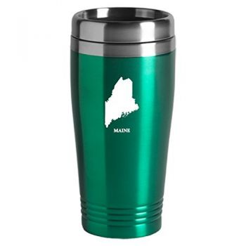 16 oz Stainless Steel Insulated Tumbler - Maine State Outline - Maine State Outline