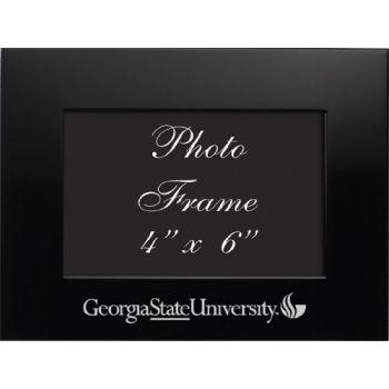 Georgia State University - 4x6 Brushed Metal Picture Frame - Black
