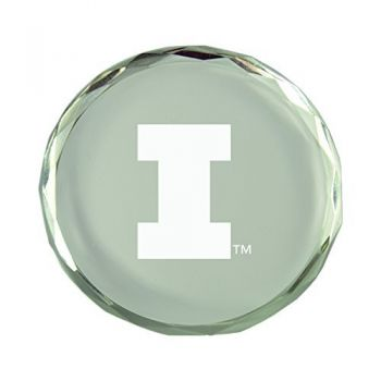 University of Illinois-Crystal Paper Weight