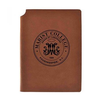 Marist College Velour Journal with Pen Holder|Carbon Etched|Officially Licensed Collegiate Journal|