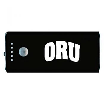 Oral Roberts University -Portable Cell Phone 5200 mAh Power Bank Charger -Black
