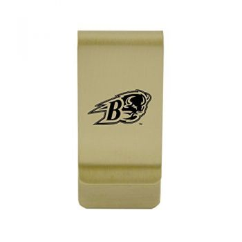 Bethune-Cookman University|Money Clip with Contemporary Metals Finish|Solid Brass|High Tension Clip to Securely Hold Cash, Cards and ID's|Silver