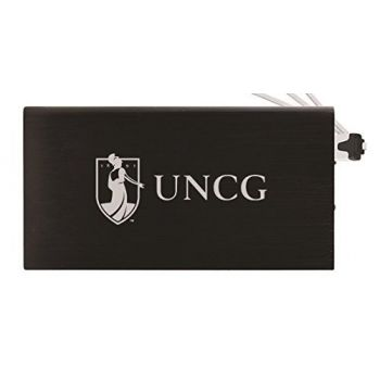 8000 mAh Portable Cell Phone Charger-University of North Carolina at Greensboro-Black