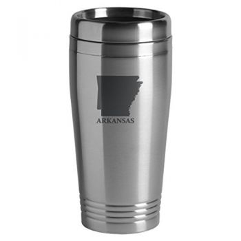 16 oz Stainless Steel Insulated Tumbler - Arkansas State Outline - Arkansas State Outline