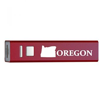 Oregon-State Outline-Portable 2600 mAh Cell Phone Charger-