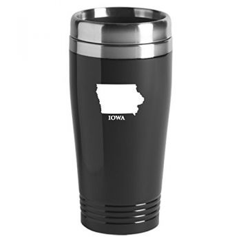 16 oz Stainless Steel Insulated Tumbler - Iowa State Outline - Iowa State Outline