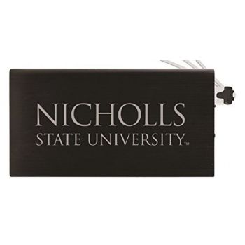 8000 mAh Portable Cell Phone Charger-Nicholls State University -Black