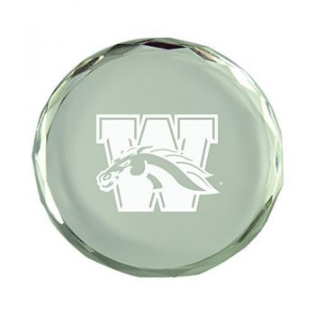 Western Michigan University-Crystal Paper Weight
