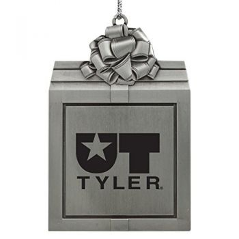 University of Texas at Tyler-Pewter Christmas Holiday Present Ornament-Silver