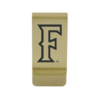 Long Beach State University|Money Clip with Contemporary Metals Finish|Solid Brass|High Tension Clip to Securely Hold Cash, Cards and ID's|Silver