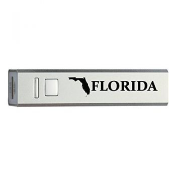 Florida-State Outline-Portable 2600 mAh Cell Phone Charger-
