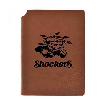Wichita State University Velour Journal with Pen Holder|Carbon Etched|Officially Licensed Collegiate Journal|