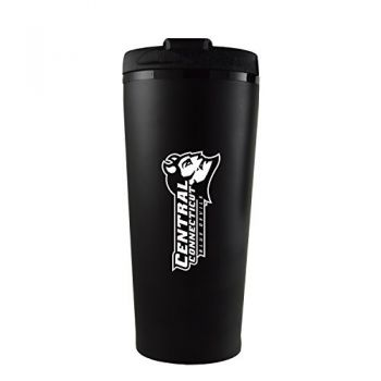 Central Connecticut University-16 oz. Travel Mug Tumbler-Black