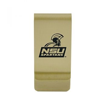 New Mexico State|Money Clip with Contemporary Metals Finish|Solid Brass|High Tension Clip to Securely Hold Cash, Cards and ID's|Silver