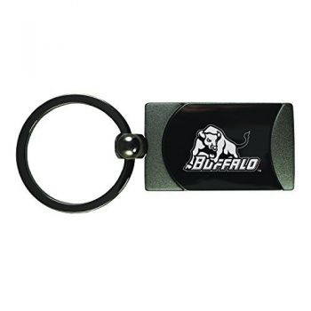 University at Buffalo-The State University of New York -Two-Toned Gun Metal Key Tag-Gunmetal