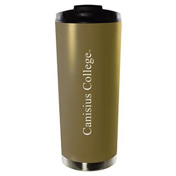 Canisius College-16oz. Stainless Steel Vacuum Insulated Travel Mug Tumbler-Gold