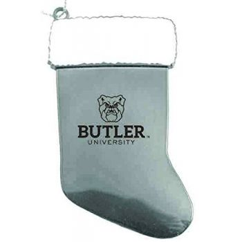 Butler University - Christmas Holiday Stocking Ornament - Silver