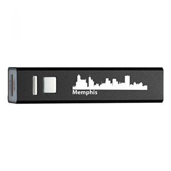 Memphis, Tennessee-Portable 2600 mAh Cell Phone Charger-BLK