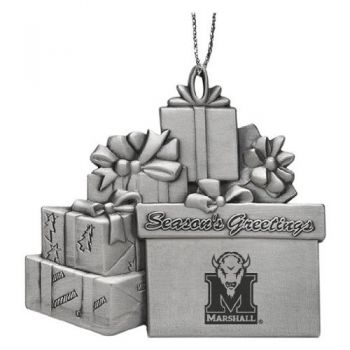 Marshall University - Pewter Gift Package Ornament