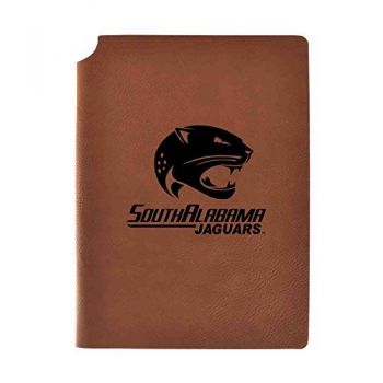 University of South Alabama Velour Journal with Pen Holder|Carbon Etched|Officially Licensed Collegiate Journal|