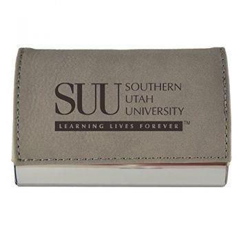 Velour Business Cardholder-Southern Utah University-Grey