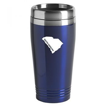 16 oz Stainless Steel Insulated Tumbler - South Carolina State Outline - South Carolina State Outline