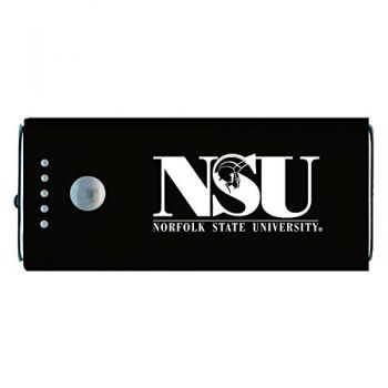 Norfolk State University -Portable Cell Phone 5200 mAh Power Bank Charger -Black