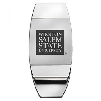 Winston-Salem State University - Two-Toned Money Clip - Silver