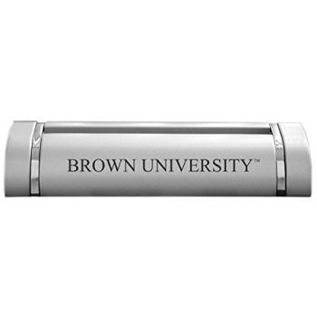 Brown University-Desk Business Card Holder -Silver