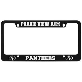 Prairie View A&M University -Metal License Plate Frame-Black