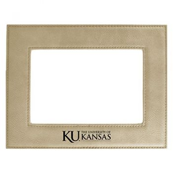 The University of Kansas-Velour Picture Frame 4x6-Tan