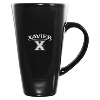 Xavier University-16 oz. Tall Ceramic Coffee Mug-Black